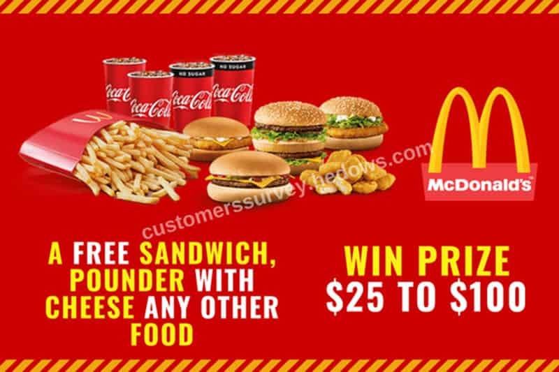 Mcdvoice Start Survey And Win 25 To 100 Prize Mcdonalds Coupons