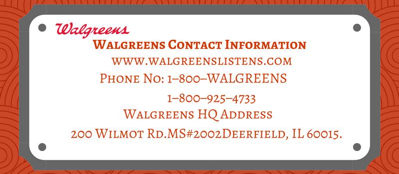 Walgreens Contacts