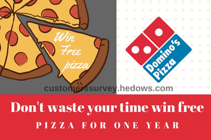 dominos survey win free pizza